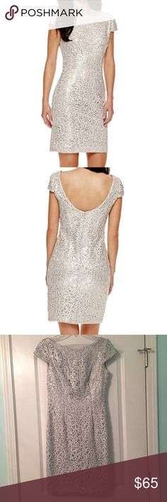 NWOT Simply Liliana Silver Beaded Prom Dress Gorgeous dress to sparkle the night away in at prom or formal! It features beautiful cap sleeves as well as intricate beading. Originally $200. PRICE IS FIRM. Liliana Dresses Prom