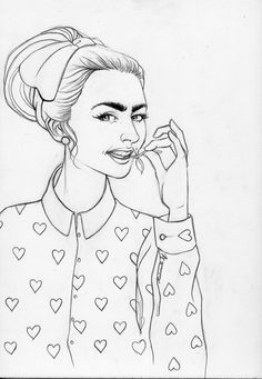 Mademoiselle Stef - Blog Mode, Dessin, Paris | Dessin – Lily Collins | http://www.mademoisellestef.com