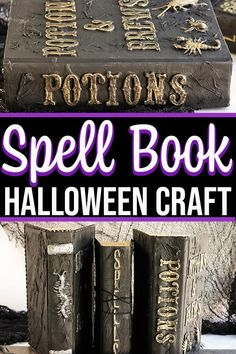 DIY Spell Book Halloween Decoration Craft