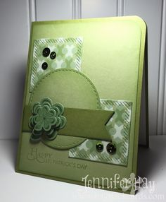 Handmade St. Patrick's Day card by Jennifer Hay using the Lucky You set from Verve.  #vervestamps