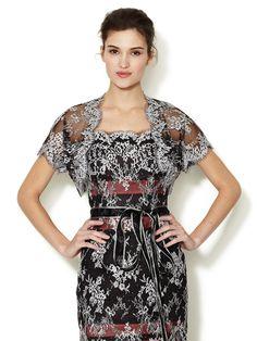 Embroidered Lace Bolero by Carolina Herrera at Gilt