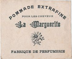 French Cosmetic Label - The Graphics Fairy