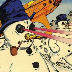 Snowmans with lazer eyes - Carefully selected by Gorgonia www. Arrow Show, Dc Comics Heroes, Comic Panels, Comic Books Art, Book Art, Coat Hanger, Cowboys, Pin Up, Weird