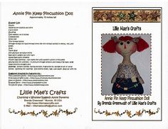 Doll costurera .. Discusión liveinternet - Servicio de Rusia Diarios Online