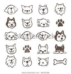 Illustration of icon - 74703581 icon Dog icon set stock illustration. Illustration of icon - 74703581 Doodle Art, Doodle Tattoo, Tier Doodles, Logo Animal, Dog Icon, Animal Doodles, Dog Logo, Dog Illustration, Dog Tattoos