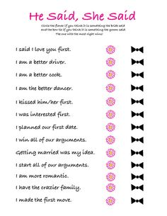 Weddings Discover Bridal Shower Versus Bachelorette Party (Whats the Difference?) This post may contains references t Wedding Shower Games Wedding Games Wedding Tips Wedding Events Dream Wedding Wedding Day Weddings Luxury Wedding Funny Wedding Programs Wedding Shower Games, Wedding Games, Wedding Tips, Budget Wedding, Wedding Venues, Luxury Wedding, Wedding Processional Order, Weddings On A Budget, Wedding Table