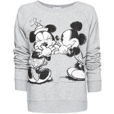 Disney sweatshirt (145 AED) ❤ liked on Polyvore featuring tops, hoodies, sweatshirts, round neck top and long sleeve tops