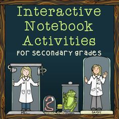 Tons of interactive notebook activities for middle and high school! #INB