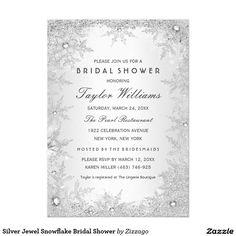 Monogram wedding cake silver bridal shower invite wedding silver jewel snowflake bridal shower card winter wedding invitationswedding filmwisefo