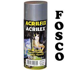 Verniz Spray Fixador Acrilfix Fosco Acrilex 210g www.frutodearte.com.br R$ 28,39