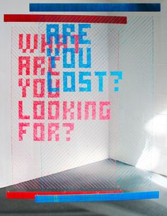 Woven Text - Evelin Kasikov – CMYK embroidery and Typographic Design – London