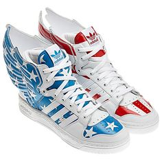 finest selection cc0de f653f Adidas x Jeremy Scott Wings 2.0 Stars   Stripes Tenis, Adidas Hombre,  Zapatos Deportivos