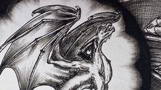 mandala, dragon, black & white
