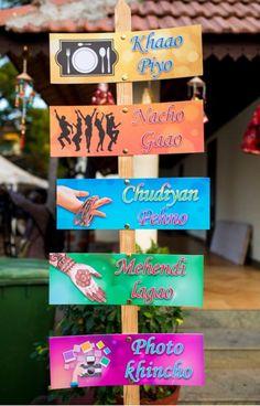 Indian Wedding Theme, Desi Wedding Decor, Wedding Hall Decorations, Marriage Decoration, Wedding Entrance, Backdrop Decorations, Mehendi Decor Ideas, Mehndi Decor, Wedding Badges