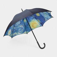 Top 12 Beautiful Umbrellas: Starry Night Umbrella, via WeeBirdy.com