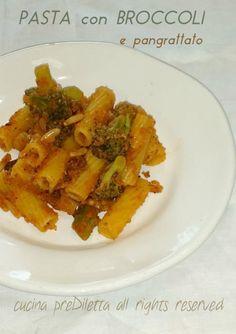 Pasta con broccoli e pangrattato, ricetta, cucina preDiletta