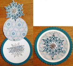 Cascading snowflake by CAR372 - Cards and Paper Crafts at Splitcoaststampers