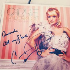 Carrie Underwood signed pic from meet and greet...can this PLEASE happen to me?!?!