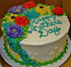 Buttercream floral design for a man's birthday or Father's Day.