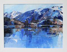 Wanaka Reflections   Jane Sinclair Artist Lake Wanaka, Living In New Zealand, Reflection, Palette, Frame, Artist, Blue, Painting, Beautiful