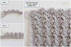crochet baby blanket pattern, crochet afghan pattern, free crochet pattern, scallop edge baby blanket, how to crochet baby blanket