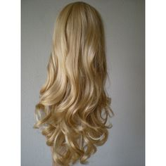 Blonde wig. Disney Princess hair style wig. Golden Blonde Synthetic... ($56) ❤ liked on Polyvore