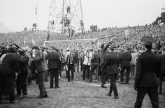 Newcastle Utd 2 Rangers 0 (2-0 agg) in April 1969 at St James Park. Crowd trouble as Rangers fans invade the pitch in the Fairs Cup Semi Final, 2nd Leg.