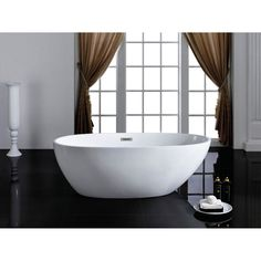 Pacific Collection Cosmo 6633-CR 66 in. Freestanding Soaking Bathtub - PBT-COSMO-6633-CR