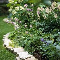 flagstone for lawn edging