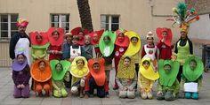 IDEA/ La oruga muy hambrienta =disfraz de frutas