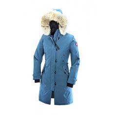 Kaufen Canada Goose Kensington Parka Fur Hoody Canada Goose Damen Jacke Blau Shop