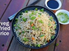 veg fried rice recipe, vegetable fried rice, chinese fried rice with step by step photo/video. popular rice recipe with cooked rice, finely chooped veggies. Veg Fried Rice Recipe, Cooked Rice Recipes, Vegetable Fried Rice, Lunch Recipes, Vegetable Recipes, Salad Recipes, Vegetarian Recipes, Vegetable Seasoning, Vegetarian Breakfast