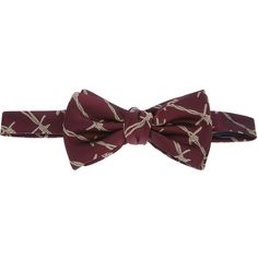 ALEXANDER MCQUEEN rope patterned bow tie