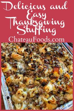 Stuffing Recipes For Thanksgiving, Holiday Recipes, Christmas Recipes, Thanksgiving Sides, Easy Thanksgiving Dressing Recipe, Traditional Thanksgiving Dinner, Dinner Recipes, Christmas Snacks, Holiday Meals