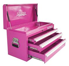 Pink TOOL BOX From The Pink Superstore - It's a tool box but also works great as a small dresser, organizer and much more! The Original Pink...