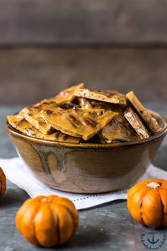 This Pumpkin Spice Pecan Brittle is the perfect little sweet treat for fall. It's an old-fashioned favorite that's hard to resist!