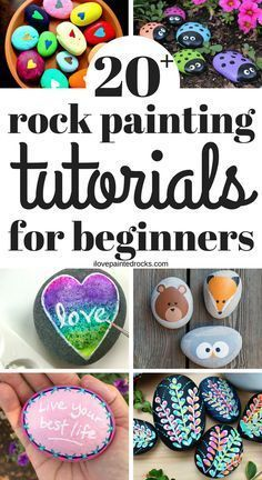 If you are new to rock painting, this collection of super easy but cute rock painting tutorials is perfect! Need rock painting ideas? Get more than 20 easy rock painting tutorials - perfect for beginning painters. Rock Painting Patterns, Rock Painting Ideas Easy, Rock Painting Designs, Paint Designs, Painting Tutorials, Rock Painting For Kids, Painting Tips, Painting Art, Easy Painting Projects