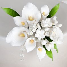 Calla Lily Boutton Toppers gumpaste Sugarflower sprays | CaljavaOnline.com
