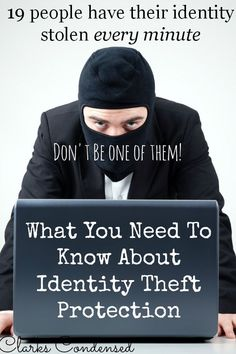 Identity Theft Protection — Don't be one of the one of the almost 10 million people who have their identity stolen each year. Here is all you need to know about identity theft protection. Identity Theft Protection, Branding, Budgeting Finances, Financial Tips, Safety Tips, Life Advice, Ways To Save Money, Things To Know, Saving Money