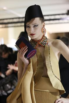 Backstage at Armani Privé Spring Couture 2013