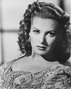 Maureen O'Hara, stunning silver screen actress often starring alongside another favorite, John Wayne.