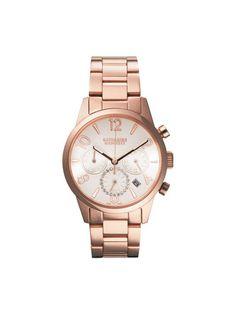 CHRONOGRAPH KH77B2-B06  A simple and elegant watch adorned with feminine rhinestones.  ¥38,850