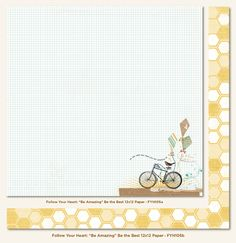My Mind's Eye - Follow Your Heart Collection - Be Amazing - 12 x 12 Double Sided Paper - Be the Best at Scrapbook.com $0.99