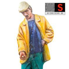 3d statue lunapark 8k model