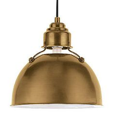 Eugene Small Pendant, Antiqued Brass