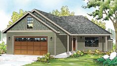 Ranch House Plan with 1369 Square Feet and 3 Bedrooms from Dream Home Source | House Plan Code DHSW076243