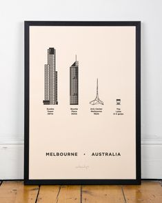 MELBOURNE POSTER by Me&Him&You