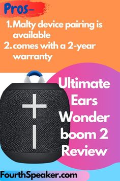 Now today I am share best Bluetooth speaker that called Ultimate Ears Wonder boom 2, I share best Review and best tips for why you choose this speaker. Ultimate Ears Wonder boom 2 is waterproof portable speaker and this is best for Outdoor Party, also you can pair with Multiple Device. battery life around 13 Hours. Yaa it is Value for Money.  #wonderboom2 #speaker #waterproofspeaker #portablespeaker #fourthspeaker Best Portable Bluetooth Speaker, Audiophile Speakers, Small Speakers, Cool Bluetooth Speakers, Waterproof Bluetooth Speaker, Outdoor Speakers, Best Build, Better Life, Beautiful Day