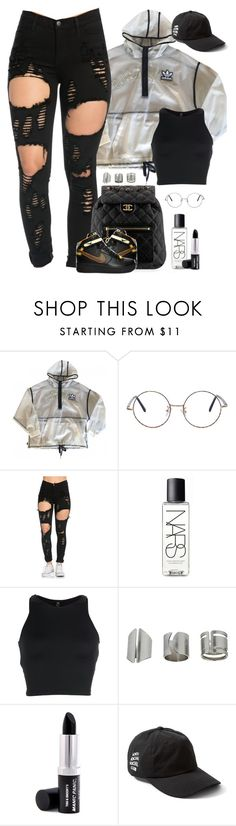 """""""Untitled #1731"""" by i-am-leia ❤ liked on Polyvore featuring adidas, Chanel, NARS Cosmetics, Onzie, Topshop and Raven Denim"""
