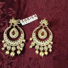 Maroon Chandbali's by Auriga Sparkles, Jewelery, Brooch, Earrings, Fashion, Jewelry, Brooch Pin, Ear Rings, Moda